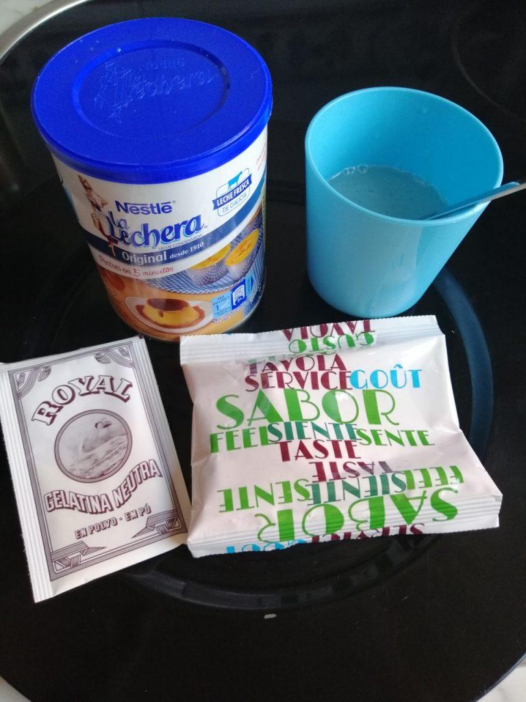 Ingredientes para preparar gelatina